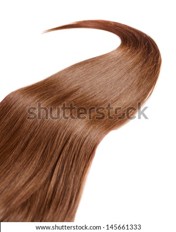 healthy brown hair