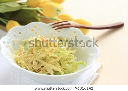 Healthy cabbage salad, coleslaw