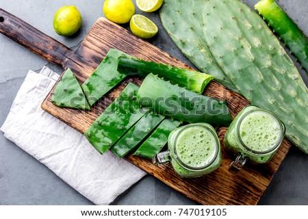 healthy cactus nopales  aloe...