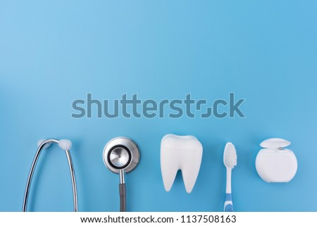 healthy dental equipment  tools for dental care Professional  Dental concept #1137508163