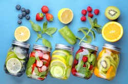 Healthy detox water with fruits....