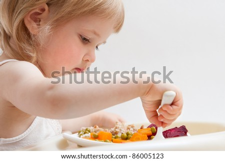 Healthy eating for a baby