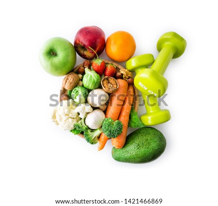 Healthy eating, Healthy lifestyle , clipping path