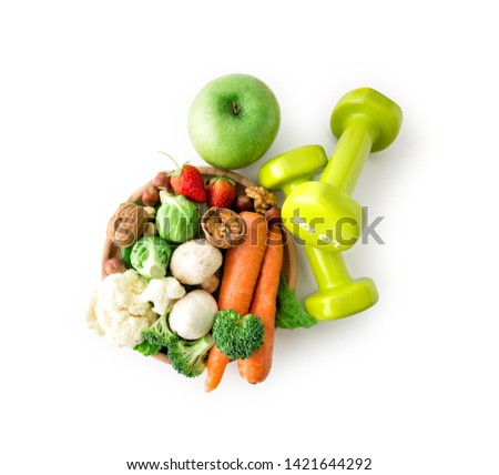 Healthy eating Healthy lifestyle , clipping path