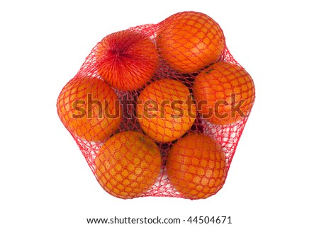 Healthy eating orange fruit food full shopping bag