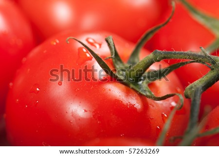 Healthy eating red ripe raw vegetable tomato food