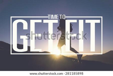 Healthy Fit Diet Activity Sport Lifestyle Purpose Concept ストックフォト ©