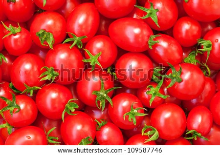 Healthy food, background. Red tomatoes