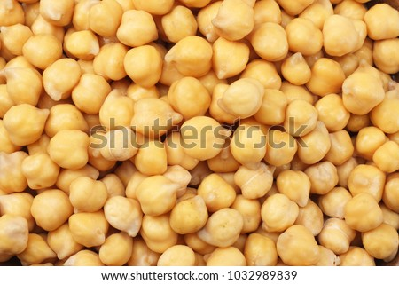 healthy food. chickpeas background. chickpeas texture. macro. top view