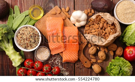 healthy food composition #554224780