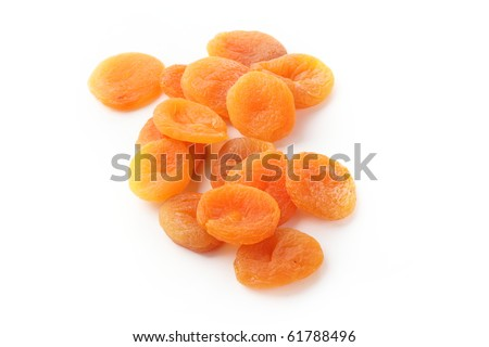 Healthy food. Dried apricots isolated on white