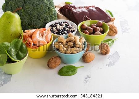 Shutterstock Healthy food, sources of folic acid (vitamin B9)