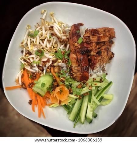 Healthy fresh food- vietnamese bun bo nam bo