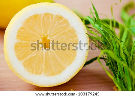 healthy fruit: fresh lemons