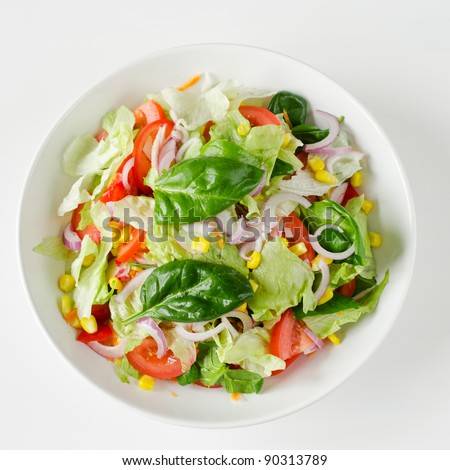 Healthy garden salad - stock photo