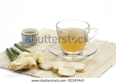 Healthy ginger tea - stock photo