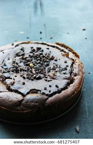 healthy glutenfree chocolate cake - brownie Zdjęcia stock ©