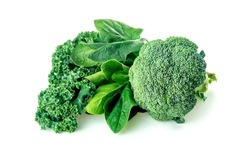 Healthy greens with broccoli, spinach and kale