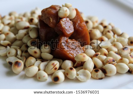 Healthy Groundnuts and Jaggery cube
