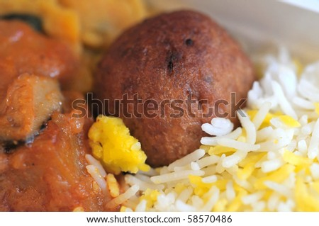 Healthy Indian vegetarian set meal. Concepts such as food and beverage, and travel and cuisine, and diet and nutrition.