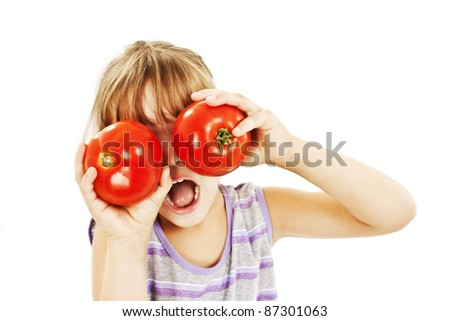 Healthy Lifestyle People. Funny Image Of Little Girl Showing450