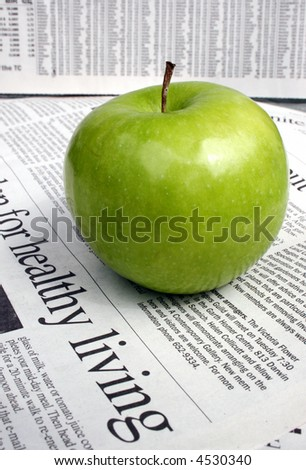 healthy living - green apple