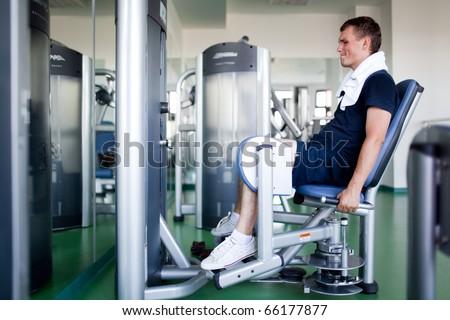 Healthy man in a sport center