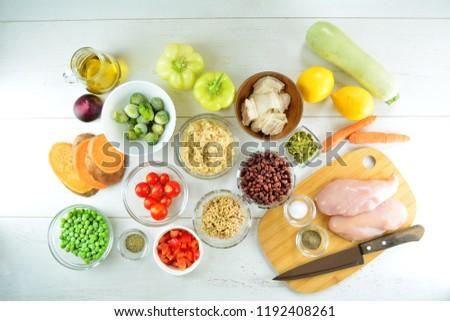 Healthy Meal Prep - recipe preparation photos