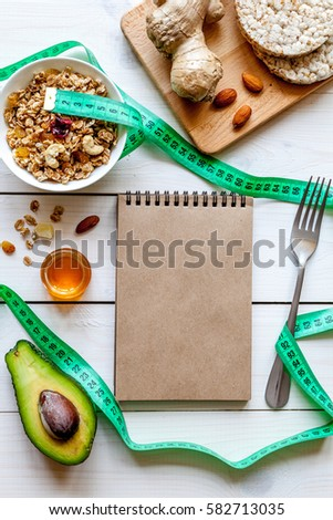 Healthy organic food on white background, top view #582713035