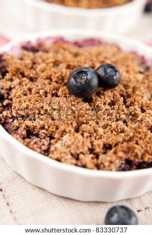 Healthy Paleo Style Berry Cobbler for Dessert