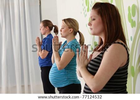 Healthy prenatal lifestyle, yoga class