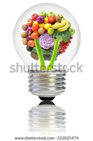 Healthy recipe ideas concept