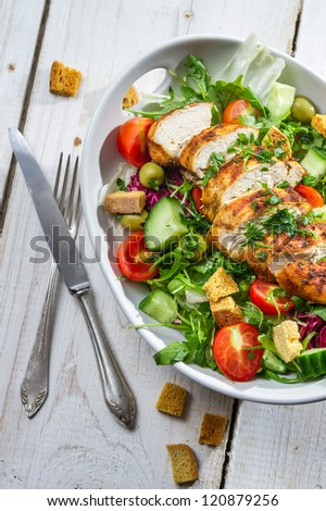 Healthy salad made of fresh vegetables