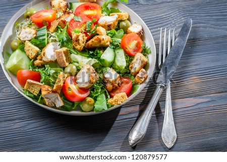 Healthy salad made of fresh vegetables