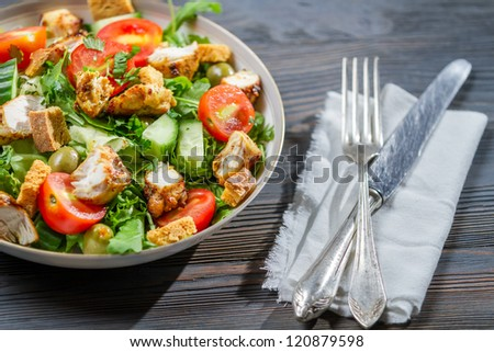 Healthy salad ready to eat