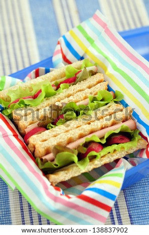 Healthy Sandwich in a lunch box