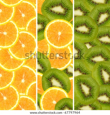 Healthy sliced citruses