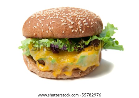 healthy soy burger isolated on white