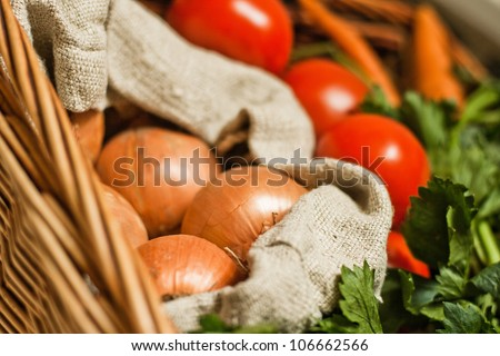 Healthy vegetables in basket