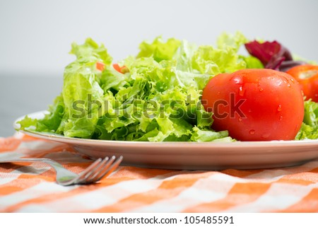healthy vegetables on a plate