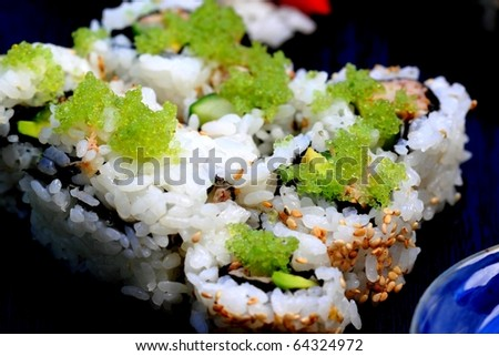 healthy very popular Japanese food sushi california roll
