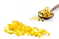 Healthy Vitamins, Omega 3,isolated, has a white background