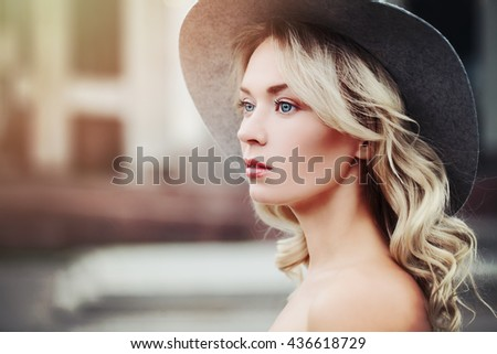 Healthy Woman Outdoors. Beauty Portrait