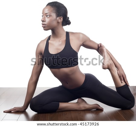 healthy women stretching in the danse studio