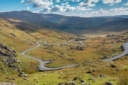Healy pass, Ring of Beara, relatively unexplored and less known to tourists than the Ring of Kerry. Lush natural beauty, wild landscapes, unspoilt seascapes and wildlife.
