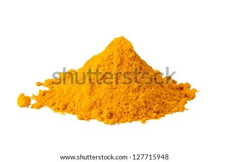Heap ground Curry isolated on white background