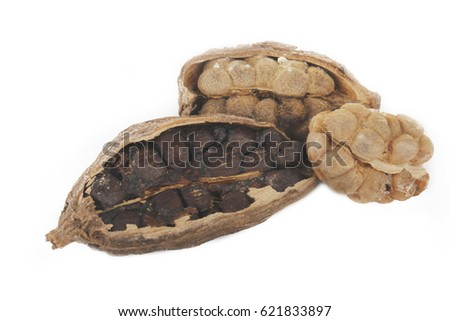 heap of black cardamom isolated #621833897