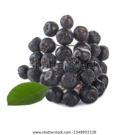 heap of black chokeberry  isolated on white background #1348892138