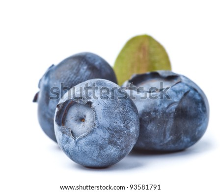 heap of blueberries isolated on white - stock photo