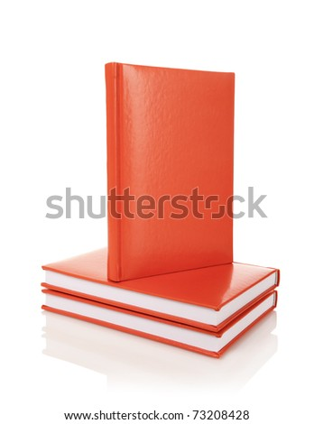 Heap of books on a white background